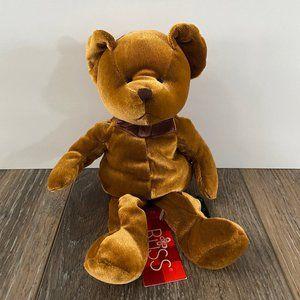 Russ Berrie Lil Crumpets Bear Plush Toy Velvet NEW